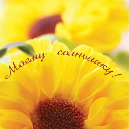 Ты солнышко моё открытка