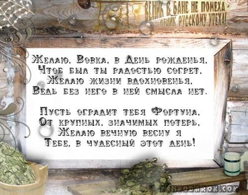 Желаю, Вовка, в День рожденья,…