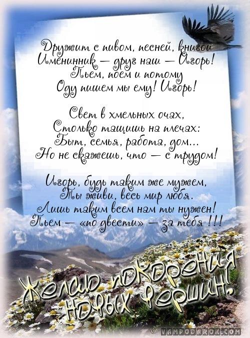 Поздравления игоря с днем рождения в стихах 10
