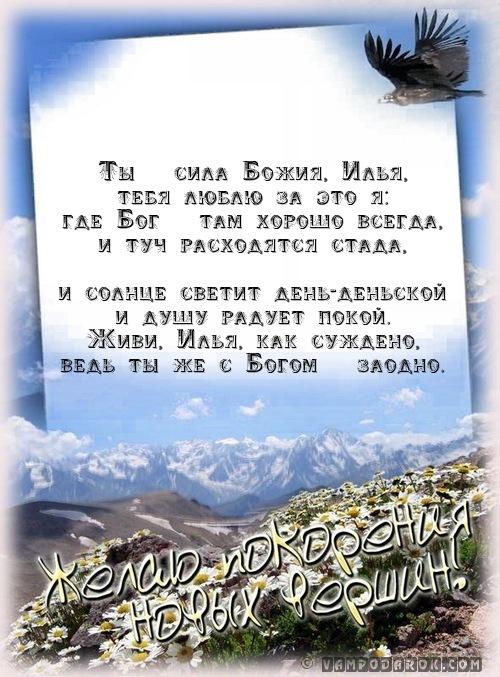 Илья (Илия) (ев.) - мой Бог, Божья сила…