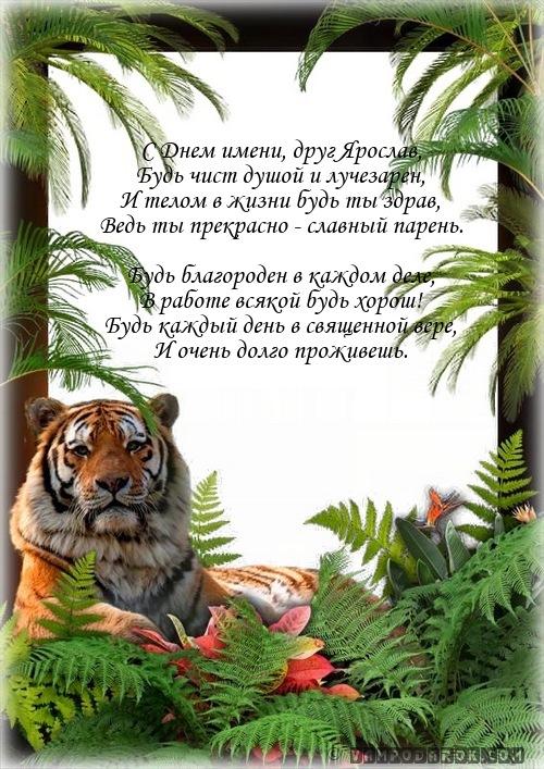 Ярославу с именинами.