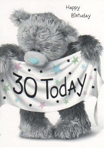 30 лет сегодня. Поздравляю!
