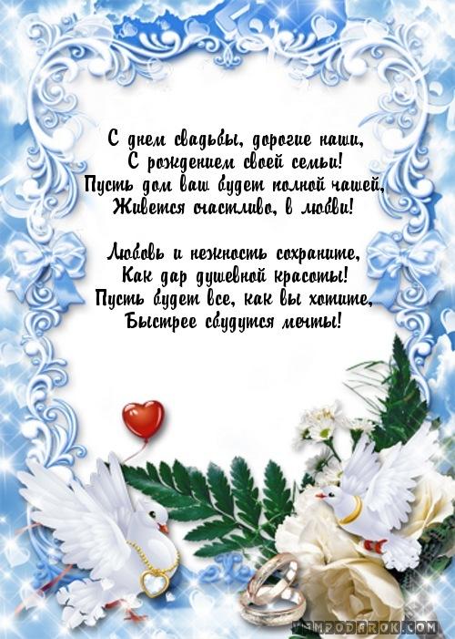 Текст поздравления с днем свадьбы на открытке 49