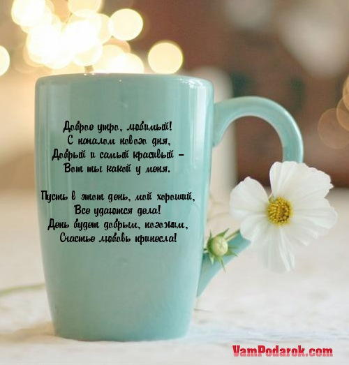 Лучшие пожелания с добрым утром любимому  Доброе Утро Мой Зайчик